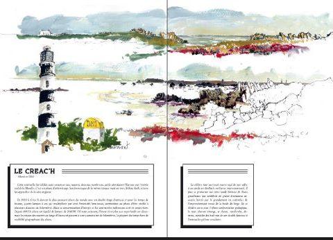 Livre Phares d'Iroise gouache du Créachdu Four