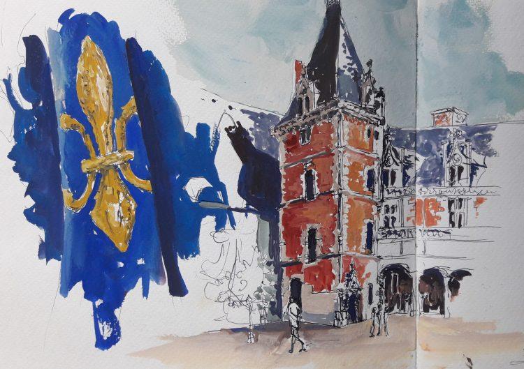 balade dans l'histoire de France gouache Blandine