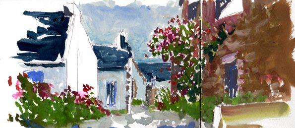 Peindre en plein air sur l'île de Houat et sur l'île d'Hoedic