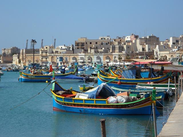 Maltes Marsaxlokk Carnet de voyage