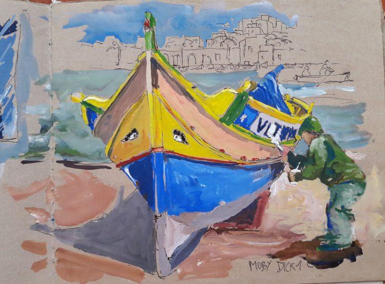 Malte aquarelle gouache Blandine